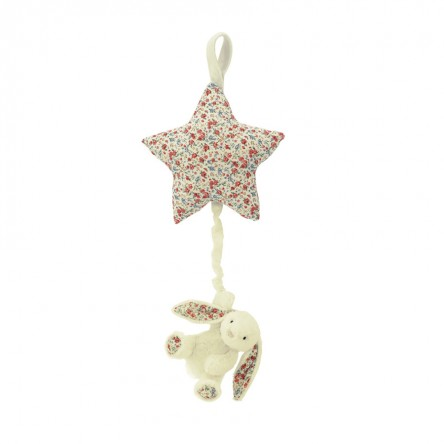 Blossom Cream Bunny Star Musical Pull