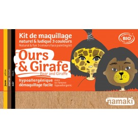 Kit maquillage ours girafe