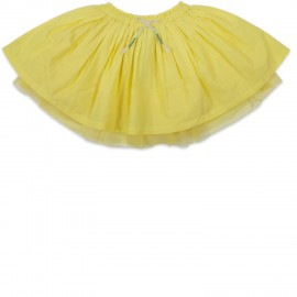 Jupe voile coton tulle INASSE JAUNE