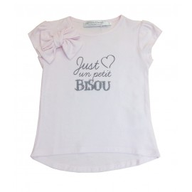 T-shirt rose Just un petit bisou