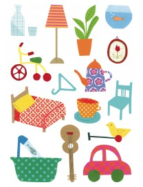 STICKERS BABY OBJETS QUOTIDIENS