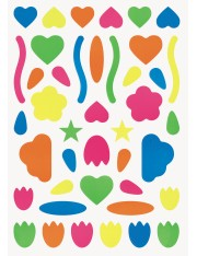 STICKERS BABY MULTIFORMES FLUO
