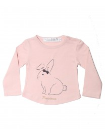 T SHIRT TANIA ROSE IMPRESSION LAPIN