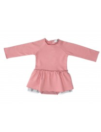 ROBE BODY LAORA PINK MOLLETON TULLE