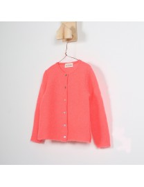 CARDIGAN JAHINA FILLE FLUO CORAIL