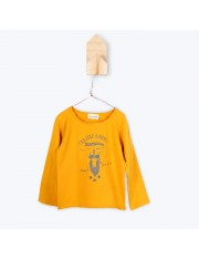 T SHIRT ML RIDERS OCRE