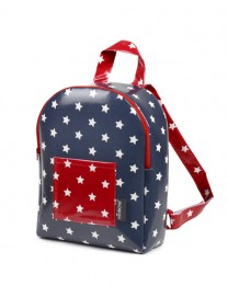 SAC A DOS SEMI SOUPLE BLUE NAVY / RED STAR