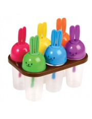 6 MOULES POUR SUCETTES GLACEES WOODLAND BUNNY