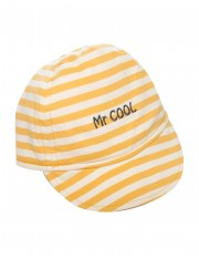 CASQUETTE RAYEE JAUNE MR COOL