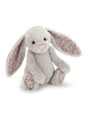 PELUCHE LAPIN BASHFUL MEDIUM GRIS OREILLES LIBERTY