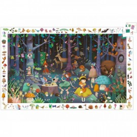 PUZZLE-OBSERVATION-LA FORET ENCHANTEE-100PCS