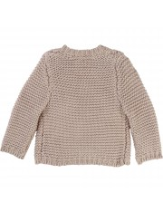 CARDIGAN TRICOT POUSSIERE