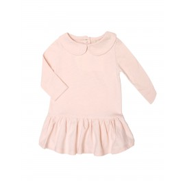 Robe fille molleton rose Soft Pink