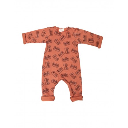 Pyjama PYJMIX Molleton Tan all-over Tapes