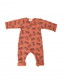 Pyjama bébé garçon molleton Tan all-over Tapes