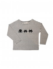 T-Shirt Stripe gris Invaders
