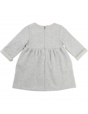 ROBE GRIS CLAIR CHINE POCHES LAPIN