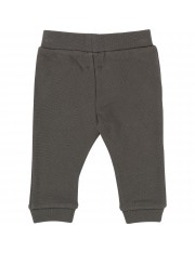 Pantalon molleton piqué anthracite