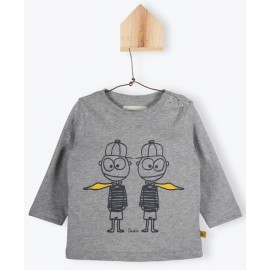 T shirt Twins gris chiné