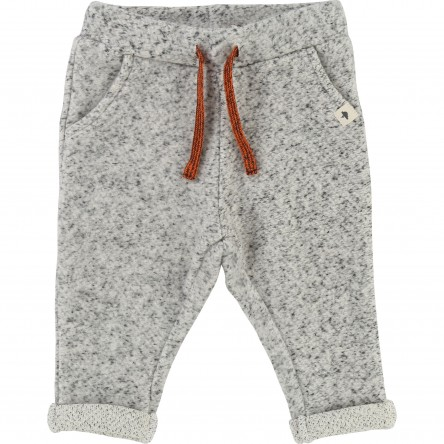 Pantalon molleton gris clair chiné