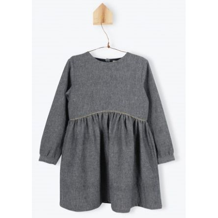 Robe chambray grise