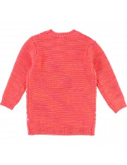 ROBE TRICOT ROSE FLUO