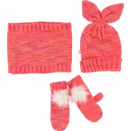 KIT BONNET ECH GANTS FUSCHIA