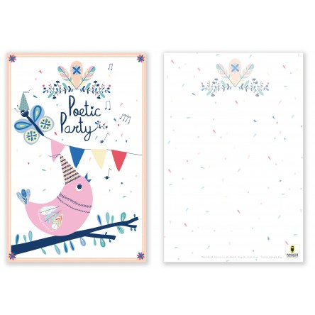 8 cartes postales Poetic Party
