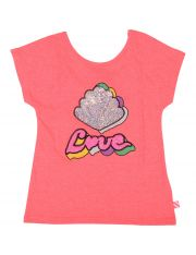 TEE SHIRT ROSE FLUO