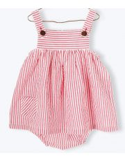 Robe & bloomer seersucker rayé