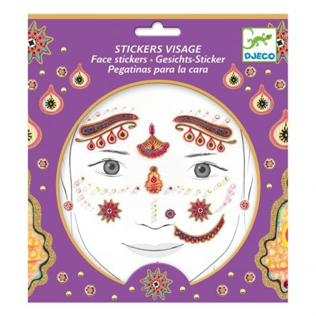 STICKERS VISAGE PRINCESSE INDIA