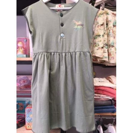 ROBE JERSEY OLIVE