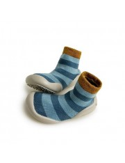 CHAUSSON CHAUSSETTE BLUE STRIPES